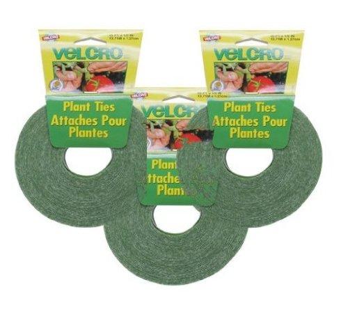 Velcro 3-Pack - Velcro Plant Ties 45 Feet X 1/2 Inch (Velcro Plant Ties)