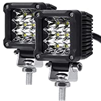 LED Pods, ADZOON 2'' 27W Motorcycle Driving Lights Waterproof Mini Cubes LED for Dirt Bike Bicycle Sightseeing Vehicle Truck Jeep SUV Boat