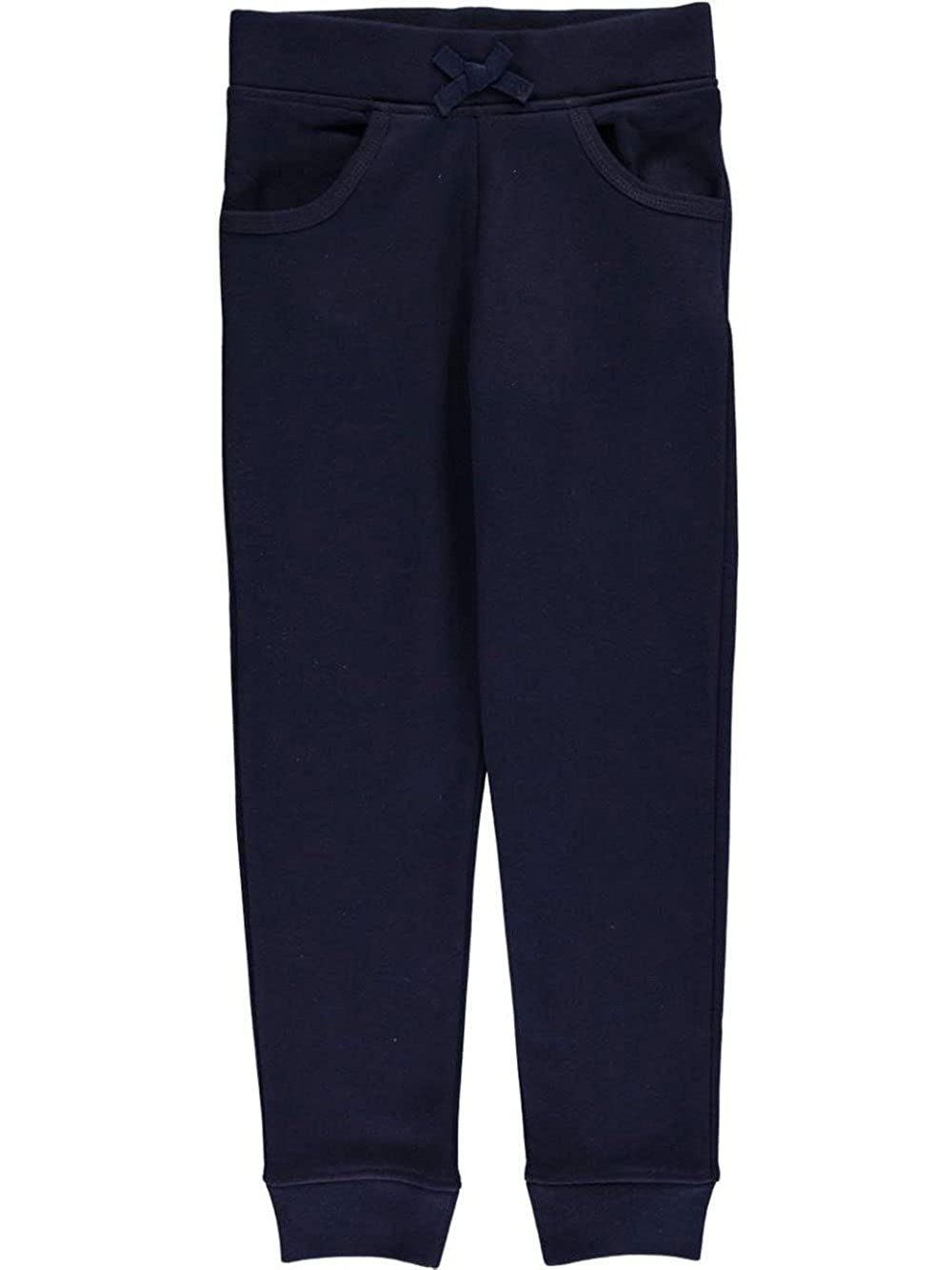 French Toast Big Girls' Fleece Joggers - Navy, 7-8