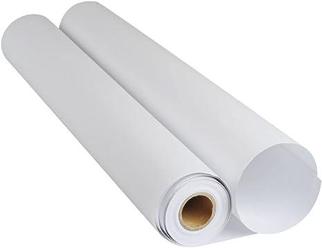 Rollo de papel de plotter y dibujo CAD transparente, 110 g/m², 0,610 X 50 metros (DIN A1, 61 cm) para plotter HP Epson: Amazon.es: Hogar