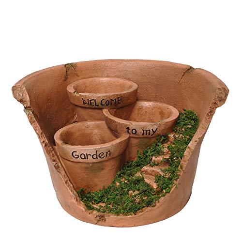 Echo Valley 6305 Welcome to My Garden Broken Planter Pot