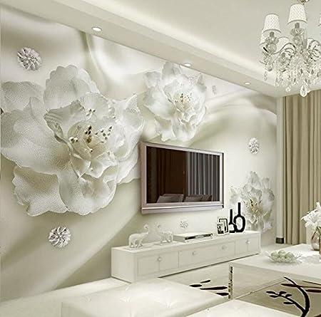 Yosot Schones Licht Grau Blumen Im Europaischen Stil 3d Tv Kulisse