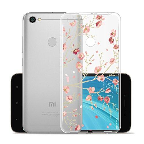 Funda para Xiaomi Redmi Y1 / Redmi Note 5A Prime , IJIA Transparente Hojas de Plátano Verde TPU Silicona Suave Cover Tapa Caso Parachoques Carcasa Cubierta para Xiaomi Redmi Y1 / Redmi Note 5A Prime ( WM84
