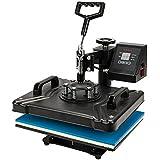 "ROVSUN 5 in 1 Digital Heat Press Transfer Sublimation Multifunction Machine,Rhinestone/T-Shirt/Mug/Plate/Cap Press Pads DIY Press,12""x15""w/ 1250W"