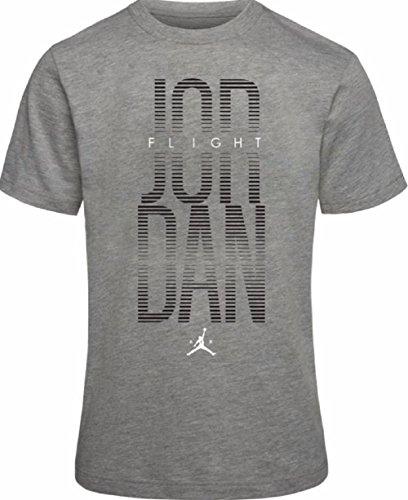 (Nike Air Jordan Boys' Dri-Fit T-Shirt (Carbon Heather, Small))
