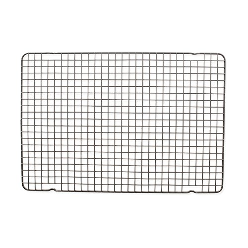 Nordic Ware 43343 Oven Safe Nonstick Baking and Cooling Grid (1/2 Sheet), One, Steel
