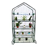 Abba Patio 4 Tier Mini Greenhouse Portable Lawn and Garden Green House, 40'' L x 20'' W x 73'' H