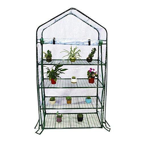 Abba Patio 4 Tier Mini Greenhouse Portable Lawn and Garden Green House, 40″ L x 20″ W x 73″ H