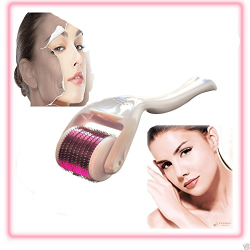 Uni Fancy Derma Roller 1.0mm Neddle Length with 540 Microneedles for Face and Body Comestic Therapy Care - Surgical Grade Stainless Steel Needles - FREE Sterilized Travel Case - Micro Needle Roller for Acne Scars,Blackhead ,Stretch Marks,Large Pores,Wrinkles,Air Loss,Air Loss,Cellulite - Multiplies the Absorption of EGF ,Vitamin C,Coconut Oil,Anti Ageing Serum & Hyaluronic Acid Face Serum