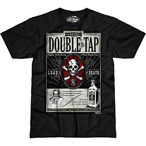 7.62 Design 'Double Tap' Premium Men's T-Shirt Black XL