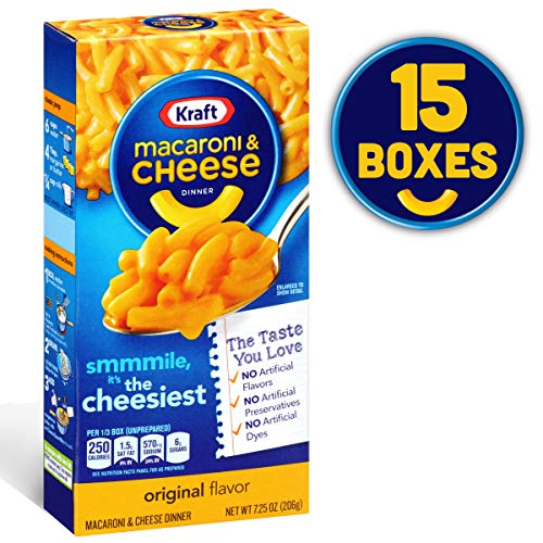 Kraft Original Macaroni & Cheese Dinner (7.25 oz Box, Pack of 15)