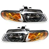 Evan-Fischer EVA13572056363 New Direct Fit Headlight Head Lamp Set of 2 Composite Clear Lens Halogen With Bulb(s) Driver and Passenger Side Replaces Partslink# CH2503134, CH2502134