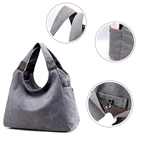 KISS B Style Simple beige Vintage GOLD Totes Hobo Canvas Women's TM Model Bag HwrP4nqH