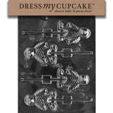 Robingift Dress My Cupcake DMCH101 Chocolate Candy Mold, Mummy Lollipop, Halloween -