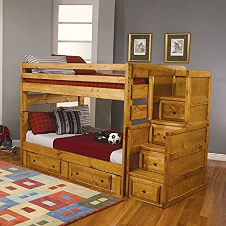 coaster home furnishings wrangle hill modern rustic bunk bed made in usa full