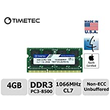Timetec Hynix IC Apple 4GB DDR3 PC3-8500 1066MHz Memory Upgrade for iMac 20 inch /21.5 inch/24 inch /27 inch, MacBook Pro 13 inch/ 15 inch/ 13 inch, Mac mini 2009 2010 (4GB)