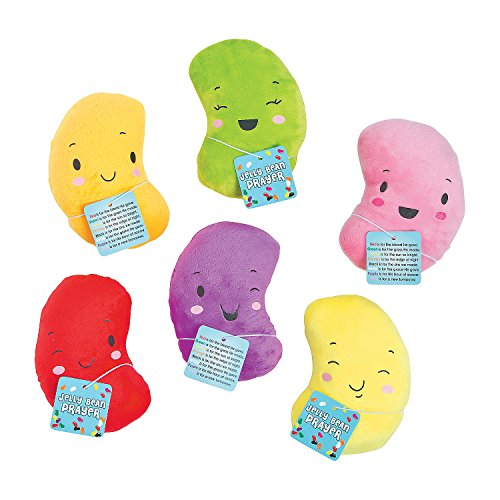 Plush Stuffed Jelly Beans Toy Bible School Church Youth Group Party Favors with Prayer Cards Pack of (Favor Prayer Card)