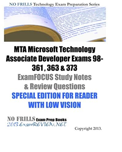 mta microsoft technology associate developer exams 98 361 363 373 rh amazon com Study Guide Template Study Guide Clip Art