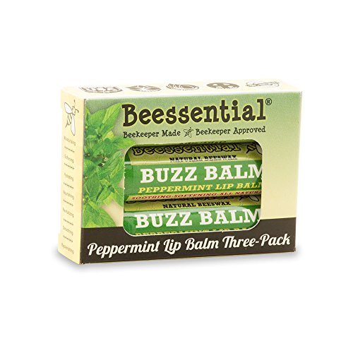 Beessential Peppermint & Honey Lip Balm 3 Pack