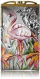 Anuschka Women's Genuine Leather Eyeglasses Case | Hand Painted Original Artwork | Flamboyant Flamingos