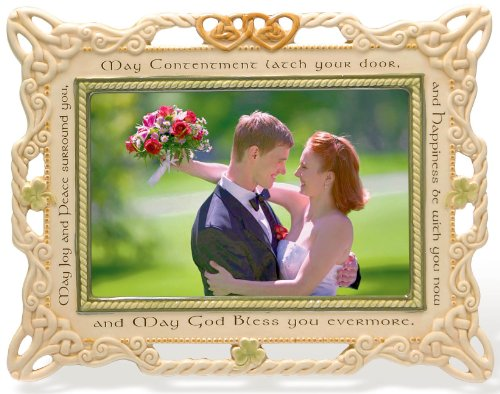(Grasslands Road Celebrating Heritage Celtic Wedding Ceramic Frame, 7 by 9-Inch, Holds 4 by 6-Inch Photo)