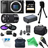 Sony Alpha a6000 Sony a6000 24.3 Interchangeable Lens Camera - Body only with Sony E 55-210mm Lens BUNDLE with 64GB SD, Spare Battery, Deluxe Padded Case, Micro HDMI Cab + DigitalAndMore Deluxe Bundle
