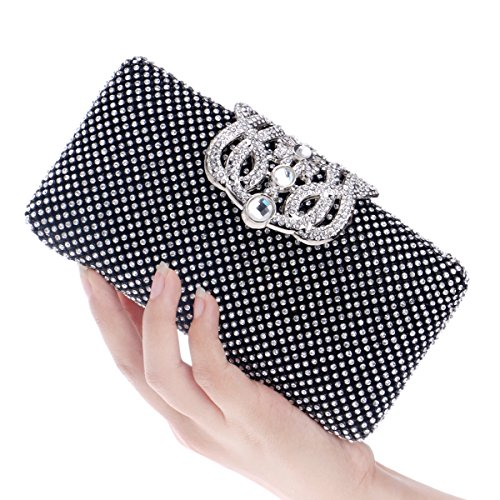 Wedding Party Bag Sequins Dance Party Bridal Black Evening Bag Bag With Weekend rSSTWYfq