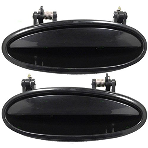 Pair Set Rear Outside Outer Exterior Door Handles Replacement for Chevrolet Buick Oldsmobile Pontiac 10439378 10331594 (Buick Century Front Door Handle)