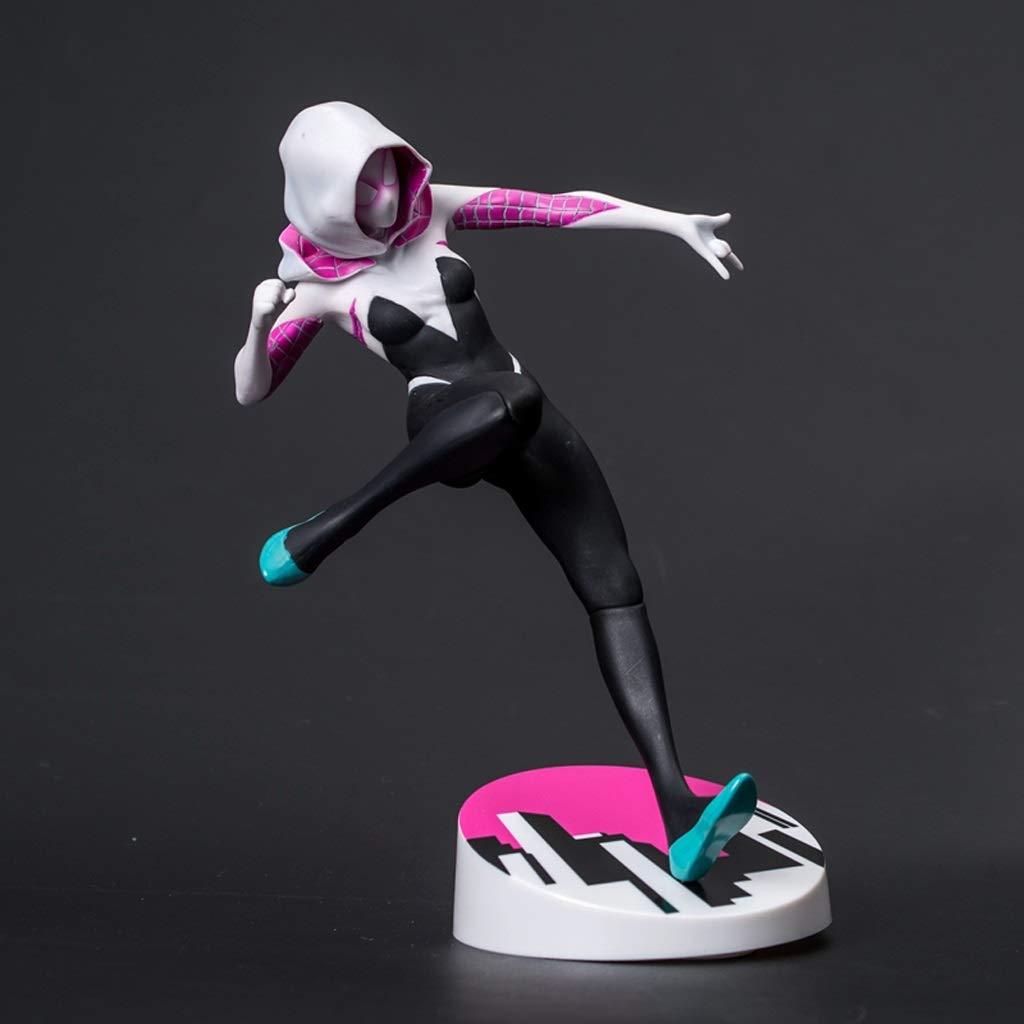JJJJD Supereroe Modello Femminile Spiderman Statua Anime Decorazione Souvenir 22cm