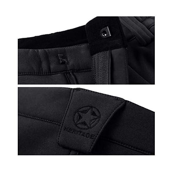 BWBIKE Hommes Hiver Polaire Épais Chaud Pantalon Extérieure Coupe-Vent Pantalon Imperméable Imperméable À La Randonnée…
