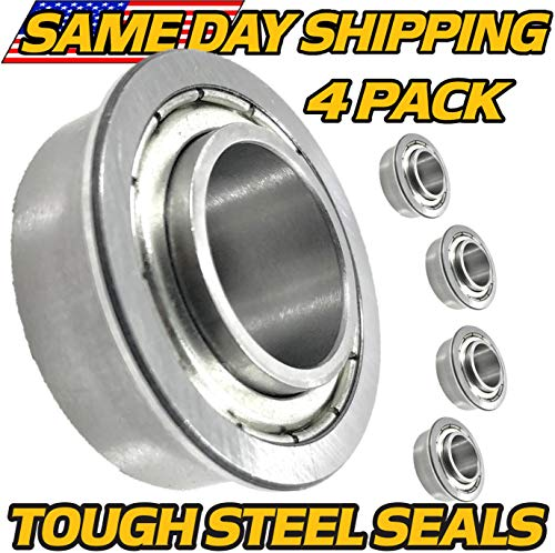(4 Pack) Snapper Rear Engine Rider Series, Front Wheel Bearings RE100 RE110 RE130 RE200 REX210 RE210 RE133 - Tough Steel Seals - HD - Engine Rear Rider