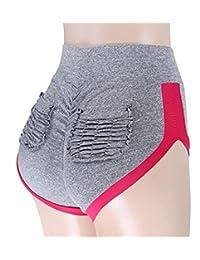 XQS Womens Scrunch Butt Lifting Power Flex High Waisted Shorts