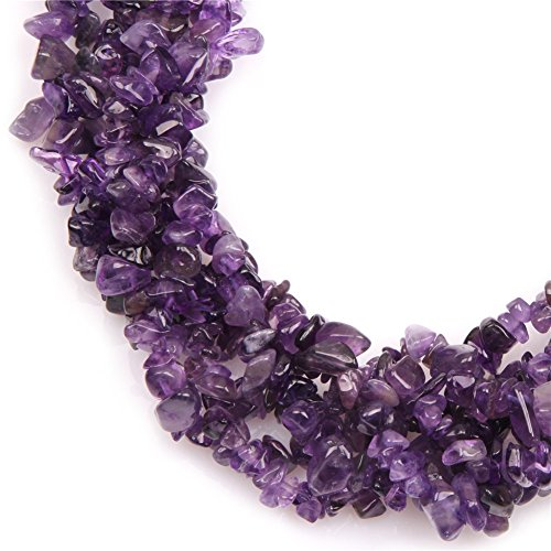 6-8mm Amethyst Beads Natural Stone Gravel Gemstone Chips Beads For Jewelry Making 34