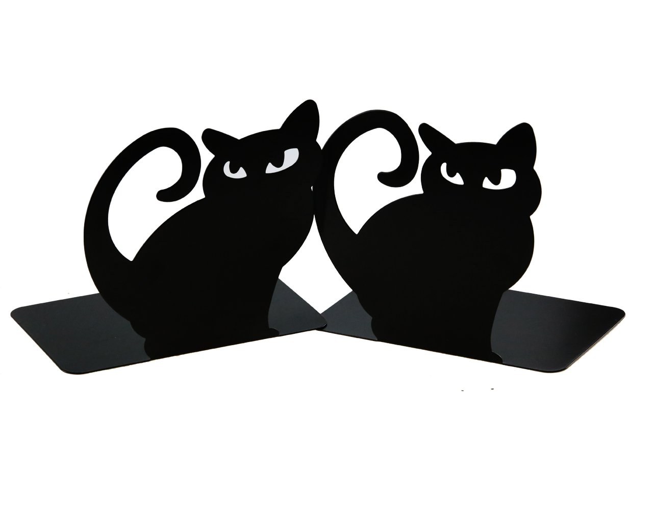 Cute Vivid Lovely Persian Cat Book Organizer Metal Bookends For Kids School Library Desk Study Home Office Decoration Gift (Black) by Apol (Image #4)