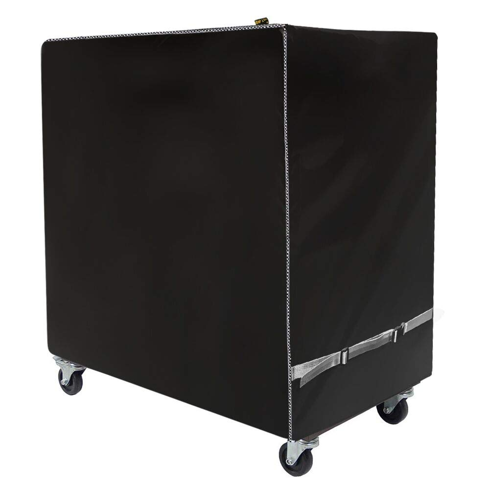 Cooler Cart Cover - Universal Fit for Most 80 QT,Waterproof Thickened Fabric,Rolling Cooler (Patio Cooler,Beverage Cart, Rolling Ice Chest) Protective Cover (Black) by Mr.You
