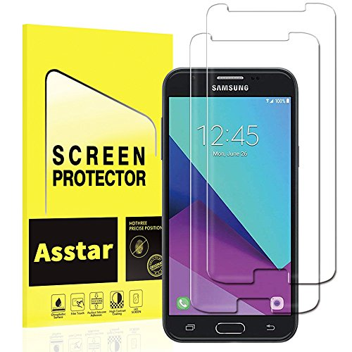 Asstar Tempered Glass Screen Protector Compatible with Galaxy J3 Emerge, J3 2017 / J3 Prime / J3 Mission / J3 Eclipse / J3 Luna Pro / Sol 2 / Amp Prime 2 / Express Prime 2