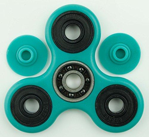TSAAGAN Hands Spinner Focus Toy Spinner Fidget Ceramic Stainless Steel Hybrid Bearings Spinner SS-Teal