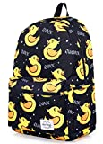hotstyle TRENDYMAX Backpack Cute for School | 16'x12'x6' | Holds 15.4-inch Laptop | Cute Ducklings, Black
