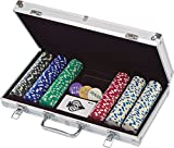 Deluxe 33.5g poker chip set in aluminum case The serious poker player will love bringing out this 300-pc. poker set at the beginning of every game. It features professional-weight poker chips and a sturdy aluminum case to make every poker night feel ...