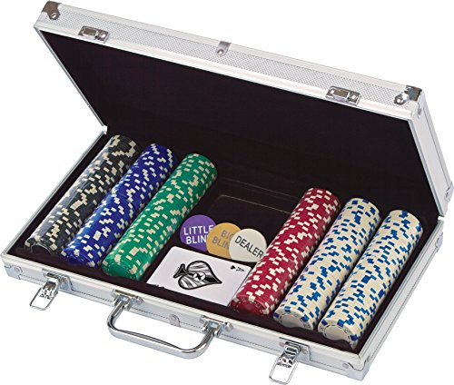 Cardinal Industries 300 ct. Poker Chips 11.5G in Aluminum Case (Styles Will Vary) Game