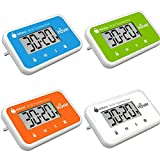 The Miracle Hover Kitchen Timer - Touchless Digital Countdown Timer, Hands-Free Control, Set of 4, Blue, Green, Orange and White