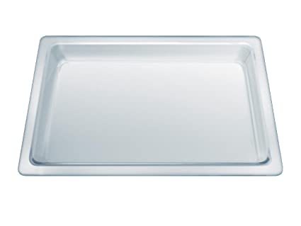 Siemens HZ636000 - Bandeja de Horno (Rectangular, Color Blanco, Vidrio)