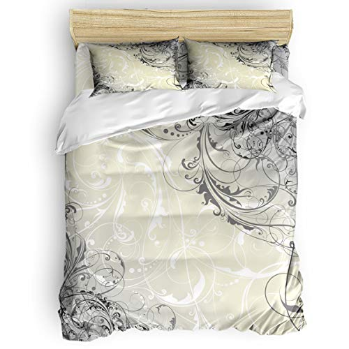 vhuhyfi 4 Pcs Comforter Cover Set Queen - Breathable and Easy Care