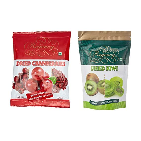Regency Dried Cranberry Slices, 200g & Dried Kiwi, 200g Combo
