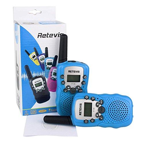Retevis-RT-388-Nios-Walkie-talkie-UHF-446MHz-8-Canales-05W-con-pantalla-LCD-y-Linterna-Incorporado-Radio-de-Juguete-Porttil-y-Aficionado-Azul-1-par