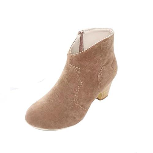 Botines Mujer Tacon, Culater Moda Mujer Botas Plataforma Zapatos: Amazon.es: Zapatos y complementos