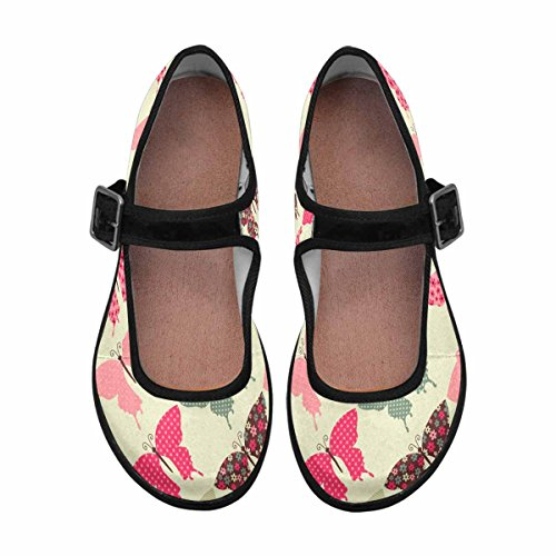 InterestPrint Womens Comfort Mary Jane Flats Casual Walking Shoes Multi 7 f3zg3Qj