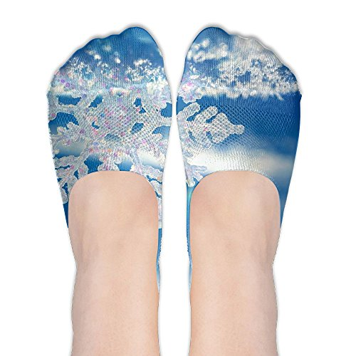 Sunlight Splendor Nature Pretty Snowflake Female Polyester Cotton Socks Women Boat Socks Thin Casual Socks Low Cut (Splendor Olive)