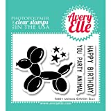 Avery Elle Stamp Set, 2-Inch by 3-Inch, Party Animal, Clear