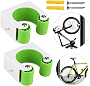 2 Pack Bike Clip, Wall-Mounted Bike Parking Buckle,Save Space MTB Storage Protect Clips, Indoor/Outdoor Mounta